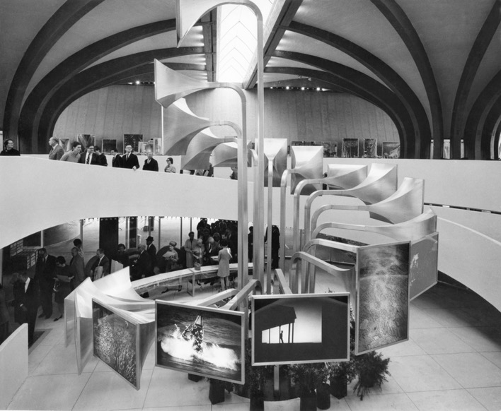 Unknown photographer, Main Floor of the Australian Pavilion at Expo '67 Montreal, 1967. From the collection of the National Archives of Australia, NAA: AA1982/206/43.