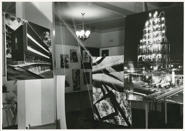 """Wolfgang Sievers and Helmut Newton, """"New Visions in Photography"""" exhibition, held at the Federal Hotel, Collins Street, Melbourne, Victoria, 1953."""